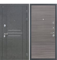 Дверь Интекрон Сенатор Лофт Штукатурка графит Дуб тоскано поперечный