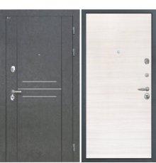 Дверь Интекрон Сенатор Лофт Дуб Штукатурка графит сильвер поперечный