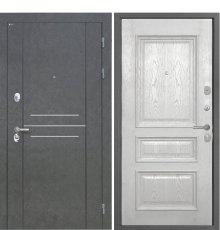Дверь Интекрон Сенатор Лофт Штукатурка графит Валентия 2 Ясень жемчуг