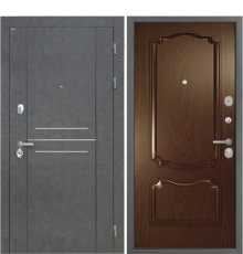 Дверь Интекрон Сенатор Лофт Штукатурка графит Позитано Дуб бургундский
