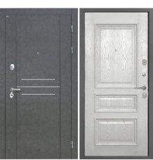 Дверь Интекрон Сенатор Лофт Штукатурка графит Фоджа 7 Ясень жемчуг