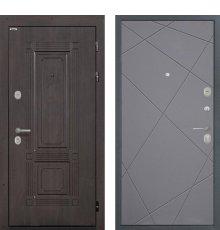 Дверь Интекрон Италия Лучи графит фото