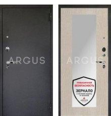 Дверь Аргус 1 Люкс ПРО Милли Ларче Светлый  / Черный Шелк