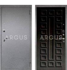 Дверь Аргус 1 Люкс ПРО Сенатор Венге Тисненый / Серебро Антик