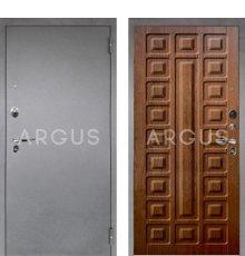 Дверь Аргус 1 Люкс ПРО Сенатор Дуб Золотой / Серебро Антик