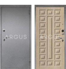 Дверь Аргус 1 Люкс ПРО Сенатор Капучино / Серебро Антик