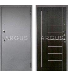 Дверь Аргус 1 Люкс ПРО Фриза Венге Тисненый / Серебро Антик